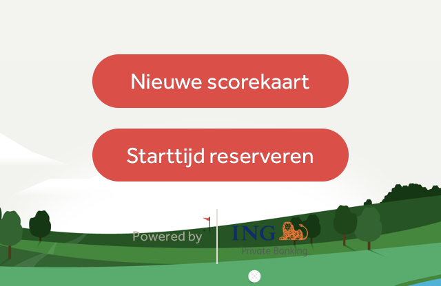 Button app GOLF.NL starttijd reserveren