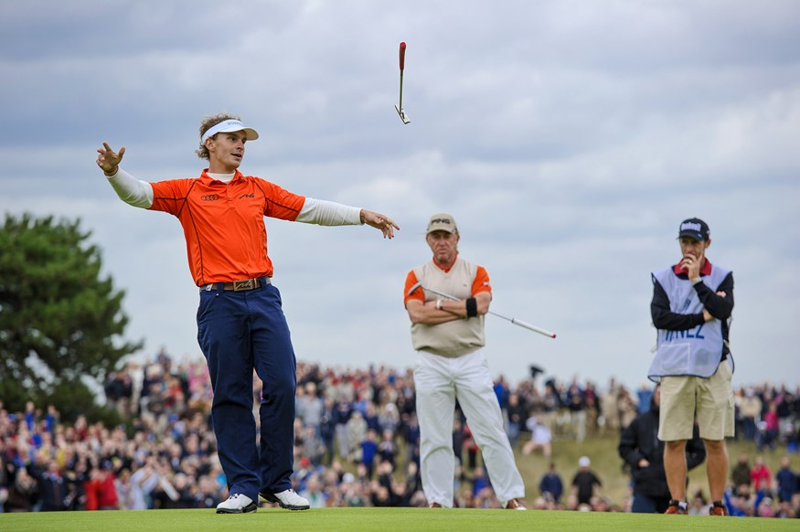 Winnende putt Joost Luiten in KLM Open 2013