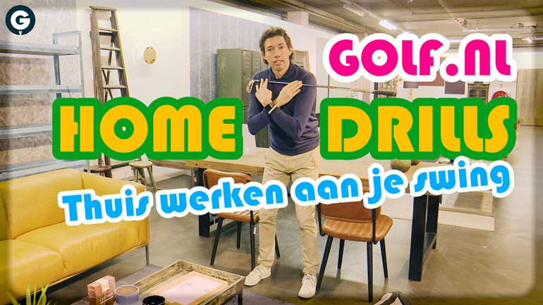 golf drills in de huiskamer