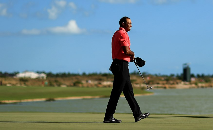 Tiger Woods in de Hero World Challenge